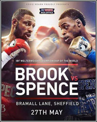 ERROL SPENCE JR. BATTERS AND STOPS KELL BROOK IN 11; CAPTURES IBF WELTERWEIGHT TITLE