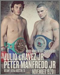 CHAVEZ JR. SCORES IMPRESSIVE 5TH ROUND TKO OVER MANFREDO JR.