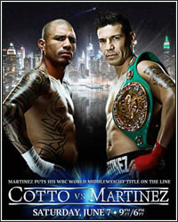 COTTO DROPS MARTINEZ 4 TIMES EN ROUTE TO 10TH ROUND TKO; BECOMES PUERTO RICO'S FIRST 4-DIVISION CHAMPION