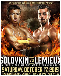 GOLOVKIN VS. LEMIEUX DOES ROUGHLY 150,000 PPV BUYS