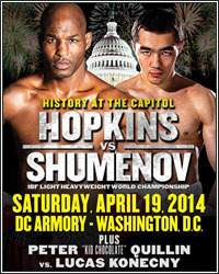 BERNARD HOPKINS DROPS BEIBUT SHUMENOV EN ROUTE TO DOMINANT SPLIT DECISION VICTORY