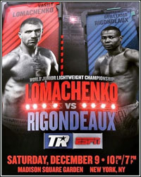 VASYL LOMACHENKO FORCES GUILLERMO RIGONDEAUX TO QUIT IN THE CORNER AFTER 6 ROUNDS
