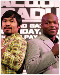 PACQUIAO FACING BIGGER BRADLEY, WHO IS CURRENTLY WEIGHING 165 POUNDS