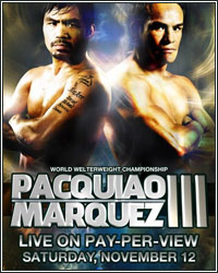 RIPPED AND READY FOR WAR; MARQUEZ AND PACQUIAO WEIGH IN UNDER 144-POUND CATCHWEIGHT