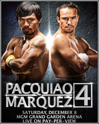 PACQUIAO-MARQUEZ 4 UNDERCARD TO FEATURE THREE WORLD CHAMPIONSHIP FIGHTS