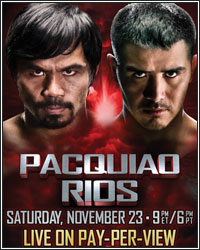 LIVE PACQUIAO VS. RIOS RINGSIDE RESULTS AND COVERAGE