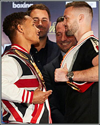 REGIS PROGRAIS AND JOSH TAYLOR COME FACE TO FACE; EXCHANGE WORDS AT KICK-OFF PRESS CONFERENCE