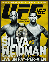 UFC 162 RESULTS: CHRIS WEIDMAN KNOCKS ANDERSON SILVA OUT COLD TO BECOME NEW UFC MIDDLEWEIGHT CHAMPION