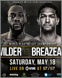 DEONTAY WILDER DEMOLISHES DOMINIC BREAZEALE IN FIRST ROUND