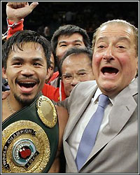 DON'T BELIEVE THE HYPE! PACQUIAO AND ARUM USING MAYWEATHER'S NAME TO SELL ALGIERI FIGHT